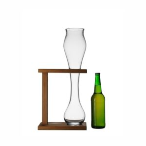 bicchiere tubeer con base in legno