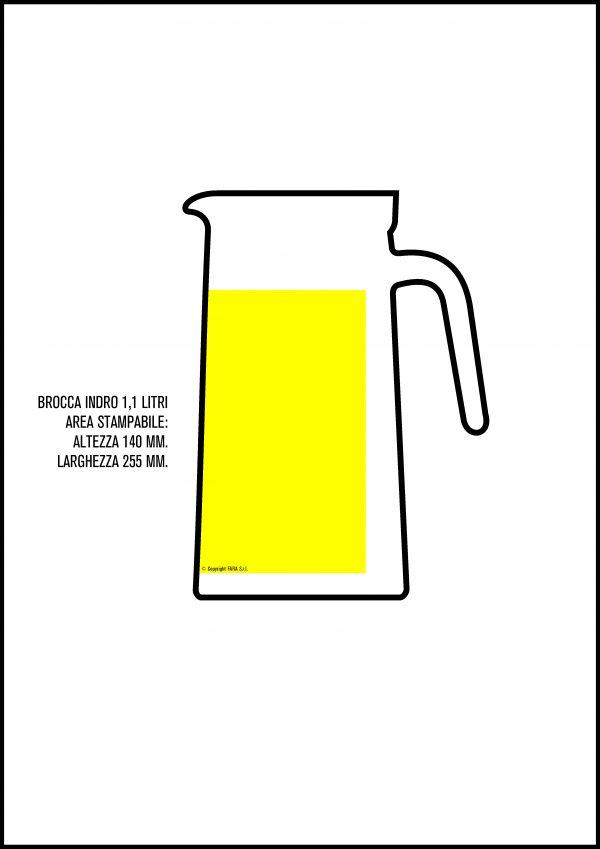 brocca indro 1,1 lt