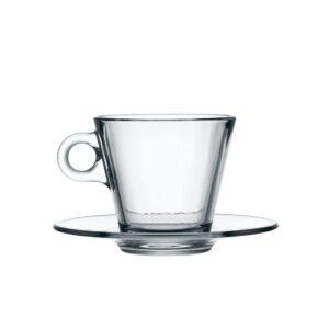 tazza conica cappuccino con piatto
