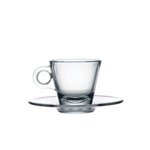 tazza conica caffè con piatto